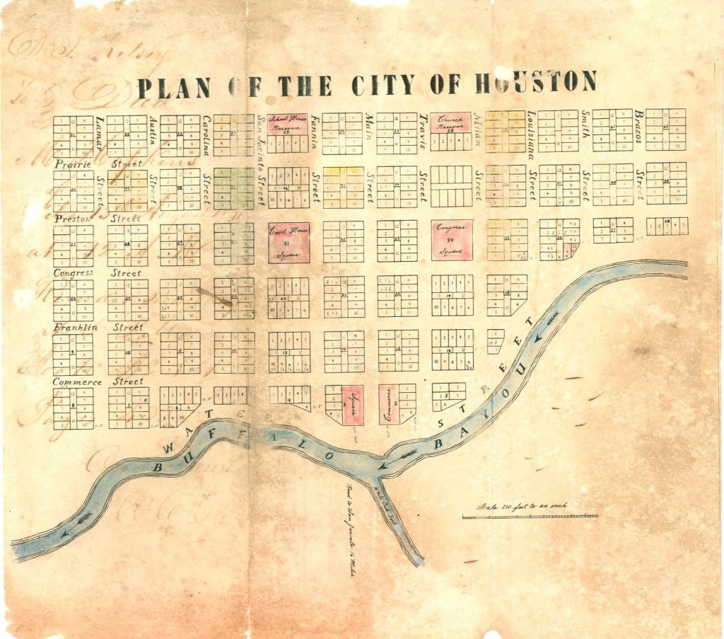 Plan of the City of Houston